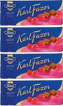 FAZER Karl Fazer Red berries in milk chocolate 4 x 200 g (4 pcs) - $33.17