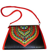 Zonnie Chanda Indian Embroidered Large Purse Black - $18.27
