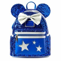 Disney Parks Sorcerer Mickey Mouse Wishes Come True Blue Backpack Lounge... - $149.99