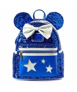 Disney Parks Sorcerer Mickey Mouse Wishes Come True Blue Backpack Loungefly Bag - $149.99