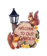 Solar Welcome To Our Garden Squirrels - $26.99