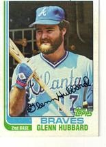 1982 Topps Glenn Hubbard Atlanta Braves #482 Baseball Card - $1.97