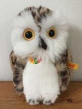 Steiff Wittie Cosy Cozy Friends Brown Spotted White Stuffed Owl Animal 5.75 Tall - $39.99