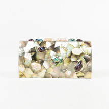 "Emm Kuo NWOT Multicolor Mother of Pearl ""Bondi"" Clutch - €195,07 EUR"