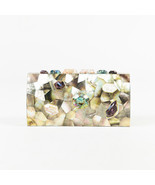 "Emm Kuo NWOT $840 Multicolor Mother of Pearl ""Bondi"" Clutch - £263.13 GBP"