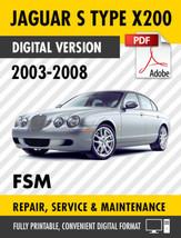 2003-2008 JAGUAR S TYPE SERVICE REPAIR MANUAL / FACTORY WORKSHOP MANUAL OEM - $13.86