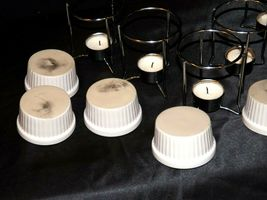 Butter Warmer Ceramic Cups Holders Seafood Crab Lobster Burner Table Set AA19-15 image 6