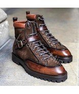 Men's Handmade Best Brown Leather Dress Custom Made Boots For Men - $179.99+