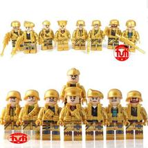 8Pcs/Set Golden Soldier Military Weapon Army SWAT Special Forces Buildin... - $16.99
