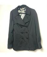 ANTHROPOLOGIE Vertigo Paris trench jacket black rain coat womens Medium - $39.60