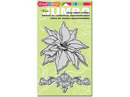 Stampendous Jumbo Poinsettia Stamp Set #CRSS041 - $11.99