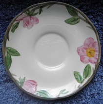 FRANCISCAN DESERT ROSE PATTERN FLAT CUP SAUCER  5 3/4'' DIA. MADE IN ENG... - $5.93