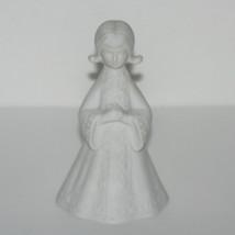 Vintage Praying Girl Bell Figurine Porcelain, Religious, Christian, Comm... - $13.56