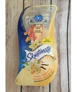 Schick Skintimate Women's Disposable Razors, Exfoliating Vanilla, 3 Razo... - $7.66