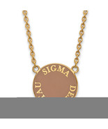 Ss/Gold Plated Sterling Silver With Gp Logoart Sigma Delta Tau Large Enl... - $49.49