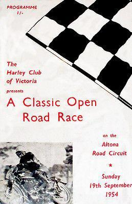 Primary image for 1954 Classic Open Motorcycle Road Race - Altona Circuit - Promotional Poster