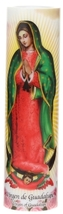 Virgin of Guadalupe , LED Flame-less Devotion Prayer Candle image 1