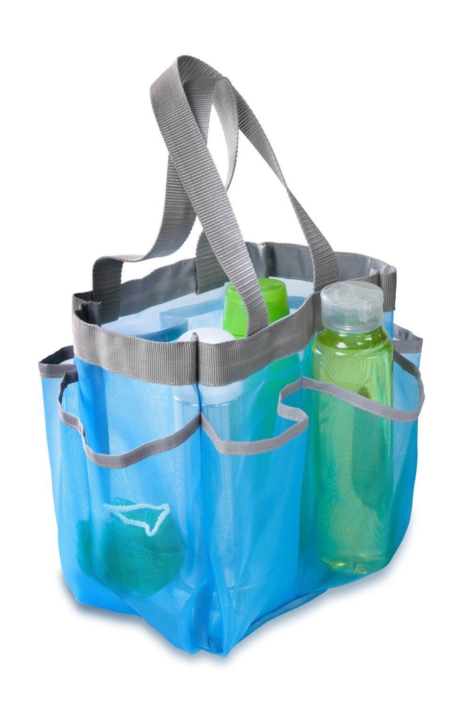 Mesh Shower Caddy Portable College Gym Dorm Travel Hanging Bag Tote Bathroom