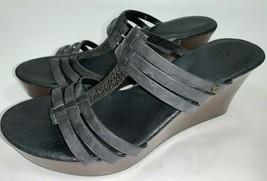 UGG Australia Wedge Platform Sandal Shoes Slip On Woven T Strap Womens S... - £27.40 GBP