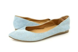 Lucky Brand Womens 8 M Bylando Ballet Flat Shoes Blue Pointed Toe Slip Ons - $24.99