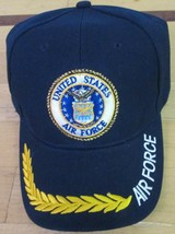 Air Force 2 Cap United States Navy & Green Embroidery Design 100 % Acrylics  - $14.98