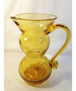 "Rainbow Glass Co Gurgle Pitcher Double Bulb 7 1/4"" T Pale Amber 97595 - $19.75"