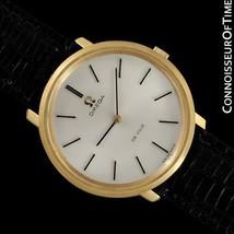 1971 OMEGA De Ville Mens 18K Gold Plated and SS Steel Dress Watch - Box ... - $1,171.10
