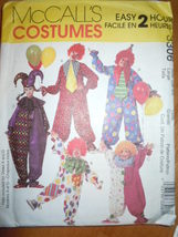 McCall's Clown & Jester Costumes Size Large 38-40 3306 Uncut - $5.99