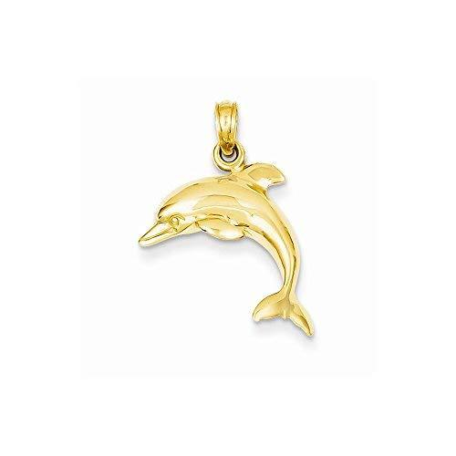 Primary image for 14k Jumping Dolphin Pendant, Best Quality Free Gift Box