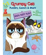 LOT OF 2 Grumpy Cat: Puzzles, Games, and More- Mini Posters and over 50 ... - $11.30