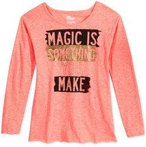 Epic Threads Girls' Magic T-Shirt, Only at Macy's, Sunset Coral, Size L - $9.49