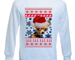 CHIHUAHUA PUPPY SANTA CHRISTMAS - NEW COTTON SWEATSHIRT