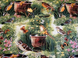 4 yards fabric Michael Miller Bird Sipping for quilting craft general se... - $27.00