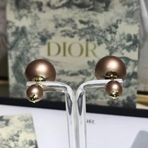 AUTH NEW Christian Dior 2019 DIOR TRIBALES EARRINGS PINK STAR DOUBLE PEARL  image 2