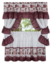 "3 pc Kitchen Curtain Tailored Cottage Set (57"" x 36"") INSPIRATION WORDS by Achim - $17.81"