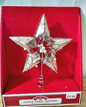 "7.5"" Natural Capiz Shell Double Sided Tree Top Star Topper 5 point Holid... - $9.89"