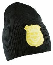 Enjoi Skateboarding Bacon Black Pig Police Johny Law Badge Beanie NEW
