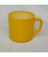 Vintage Federal Milk Glass Yellow D Handle Coffee Cup Mug Heat Proof USA - $15.47
