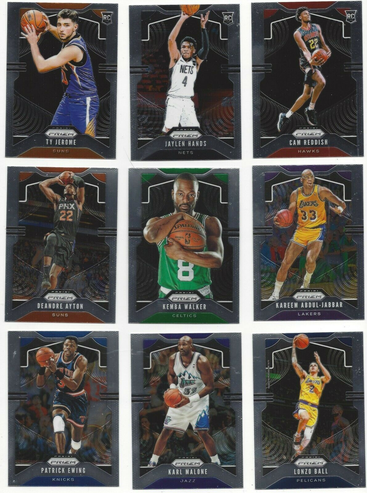 Primary image for 2019-20 PANINI PRIZM BASE ( RC's, STARS ) - WHO DO YOU NEED!!!