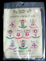 Something Special Counted Cross Stitch Angel Ornaments - $8.17