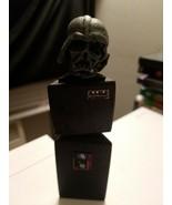 Star Wars Darth Vader Burnt Helmet Stand Handmade Brand New - $12.86