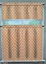 "Waverly 36"" Tier and Valance Curtain Set U Choose Pattern Rustic Retreat  - $30.08"