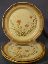 Mikasa Whole Wheat Jardiniere E8016 Dinner Plates Lot of 3 Peach Flowers - $49.95