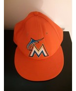 59Fifty Florida Marlins Orange New Era 7 1/2 Official On Field Hat Cap F... - $14.80