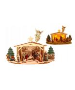 Christmas nativity scene - wood - $55.00