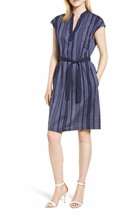 Anne Klein WOMEN'S Pinstripe Sheath Dress ETON BLUE/ECLIPSE SIZE M - $28.71