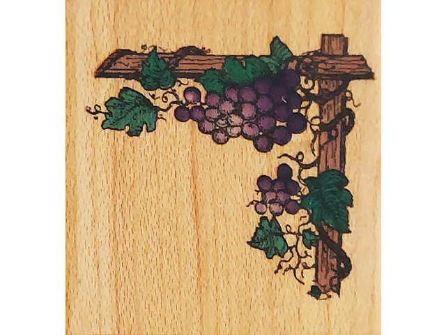Comotion Rubber Stamps 1994 Grape Vine Border Wood Mounted Rubber Stamp #777