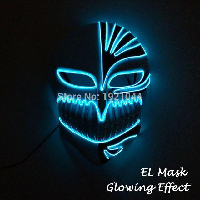 20 New Styles EL Wire Glowing Mask Party and 50 similar items