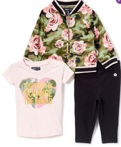 NEW Limited Too 3 Piece Outfit Set Green Pink Floral Baby Girls Size 12 ... - $21.32