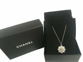 Chanel - Crystal Camellia Flower Pendant - Silver - $792.00